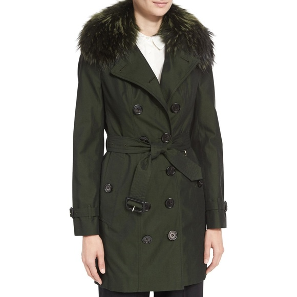 8a1c291a2eb2ed Burberry Jackets & Coats | Nwt Sandringham Trench Coat Fox Fur Vest ...